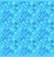 blue geometric diagonal rectangular mosaic tile vector image vector image