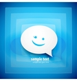 blue speech bubble background vector image