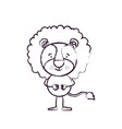 blurred silhouette caricature of cute lion vector image vector image