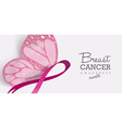 Breast cancer butterfly for social media header vector image vector image