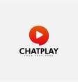 chat play logo design template isolated vector image