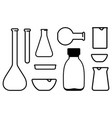chemical laboratory ware vector image