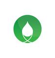 circle eco waterdrop logo image vector image vector image