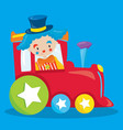 circus party train clown 03 vector image vector image