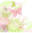 Colorful grunge background with butterfly vector | Price: 1 Credit (USD $1)