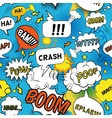 Comic Bubbles Pattern vector image vector image