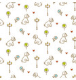 cute dog on a promenade seamless pattern vector image vector image