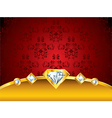 diamonds background vector image vector image