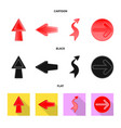 element and arrow symbol vector image vector image