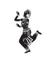 Ethnic dance of indian girl vector image vector image