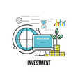 financial business strategy to corporate economy vector image