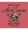 First class air cruise vector image