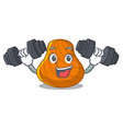 fitness hard shell character cartoon vector image vector image