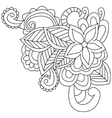 Flower coloring for adults vector image vector image