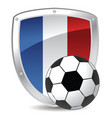 france shield soccer in colors vector image vector image