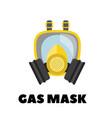 gas mask icon on white