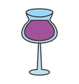 glass cup cocktail drink vector image vector image
