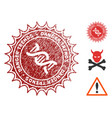 gmo danger trends seal with scratched style vector image vector image