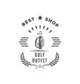 golf shop logotype vector image vector image