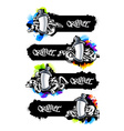 Graffiti Banners Set vector image