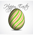 greeting card with text colored Easter egg vector image vector image