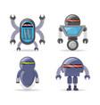group of robot cartoon design vector image