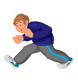 Happy cartoon man walking in running shoes vector image vector image