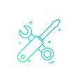 hardware tool icon design vector image vector image