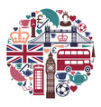 icons on a theme england vector image