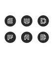 initial letter e w d p a b logo icon sets vector image vector image