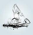 Ink sketch kayakers vector image