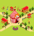 isometric carnival circus template vector image vector image