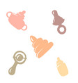 items for the baby vector image