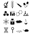 Medical science icons Set vector image vector image