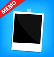 memo polaroid photo on wall isolated vector image