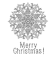 merry christmas lettering Greeting Card design vector image vector image