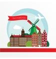 Modern Amsterdam city Skyline Design Netherlands vector image vector image