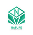 nature - business logo concept vector image