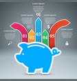 pig coin - business infographic vector image vector image