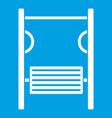 playground simulator icon white vector image vector image