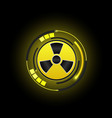 radioactive nuclear icon button radiation sign vector image