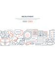 recruitment - modern line design style web banner vector image