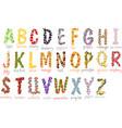 school alphabet vector image vector image