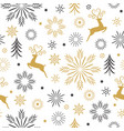 seamless christmas and new year pattern vector image vector image