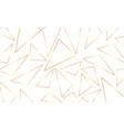 seamless geometric golden background vector image