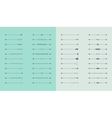 Set of arrows for web design vector image