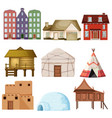 set of different house style vector image
