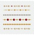 set of garland beads vector image