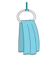 set of hand towel vector image vector image