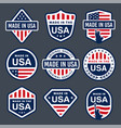 set of made in usa labels images vector image